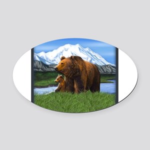 Bear Best Seller Oval Car Magnet