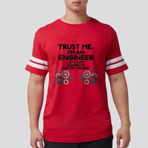 Trust me, I'm an Engineer Funn Mens Football Shirt