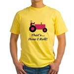 Purple Tractor How I Roll Yellow T-Shirt