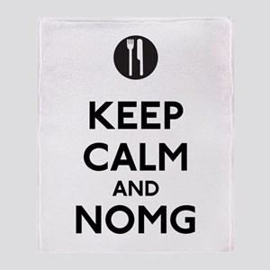 Keep Calm and NOMG Throw Blanket
