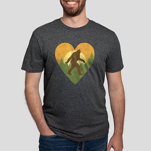 Bigfoot Love Mens Tri-blend T-Shirt