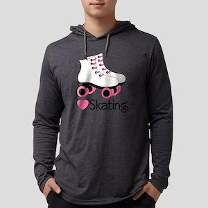 I heart Skating Mens Hooded Shirt