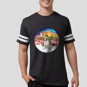 R-XmasMusic2-ClumberSpaniel.pn Mens Football Shirt