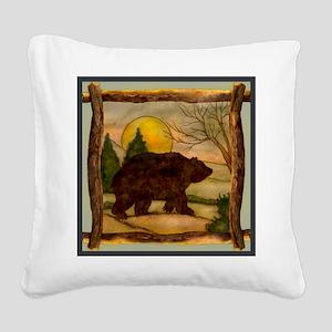 Bear Best Seller Square Canvas Pillow