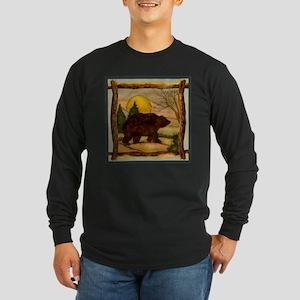 Bear Best Seller Long Sleeve Dark T-Shirt