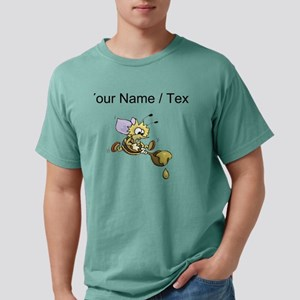 Custom Bee And Honey Mens Comfort Colors Shirt