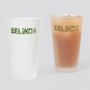 Belinda, Vintage Camo, Drinking Glass