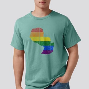 Gay Pride Flag Paraguay  Mens Comfort Colors Shirt