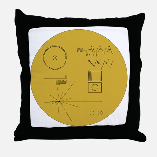 Voyager Plaque - Vger Throw Pillow