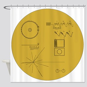 Voyager Plaque - Vger Shower Curtain