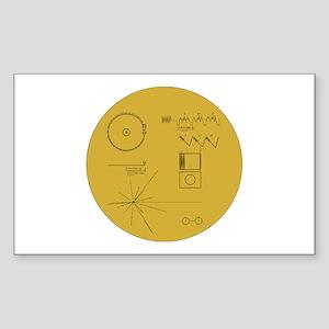 Voyager Plaque - Vger Sticker (Rectangle)
