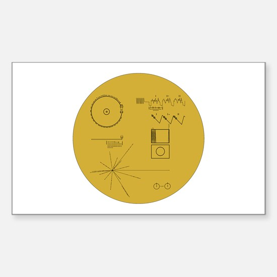 Voyager Plaque - Vger Sticker (Rectangle)