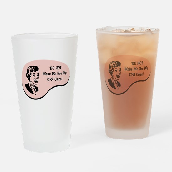 Cute Accountant voice Drinking Glass