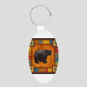 Bear Best Seller Aluminum Oval Keychain