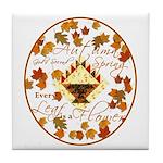 Autumn, Gods Second Spring Tile Coaster