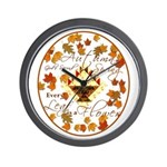 Autumn, Gods Second Spring Wall Clock