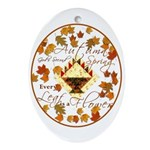 Autumn, Gods Second Spring Oval Ornament