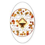 Autumn, Gods Second Spring Oval Sticker