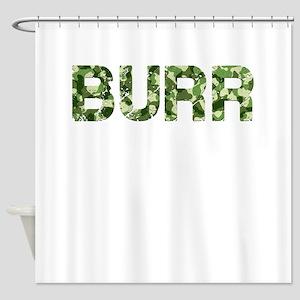 Burr, Vintage Camo, Shower Curtain