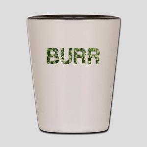Burr, Vintage Camo, Shot Glass