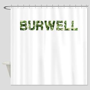 Burwell, Vintage Camo, Shower Curtain
