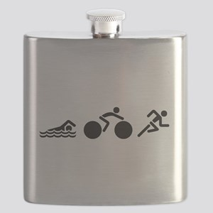 Triathlon Icons Flask