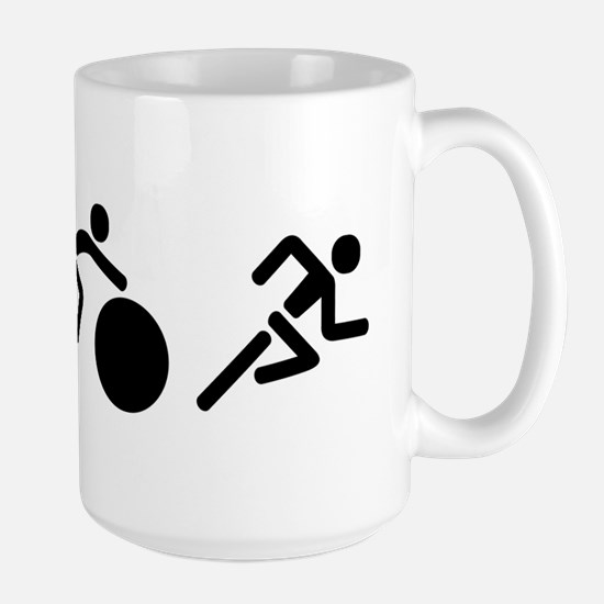 Triathlon Icons Large Mug