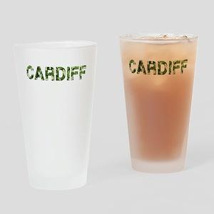 Cardiff, Vintage Camo, Drinking Glass