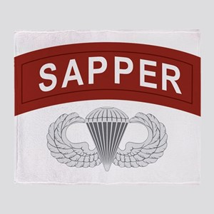Airborne Sapper Throw Blanket