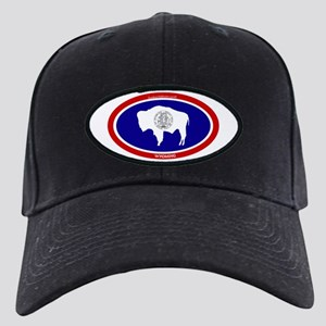 Wyoming State flag oval Black Cap