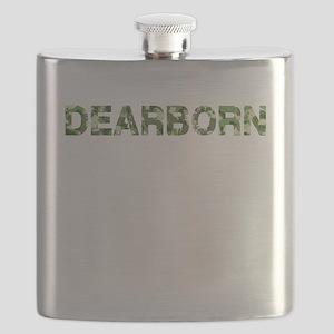 Dearborn, Vintage Camo, Flask