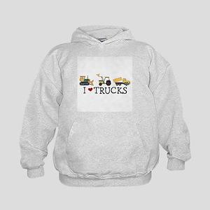I Love Trucks Kids Hoodie