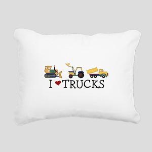 I Love Trucks Rectangular Canvas Pillow