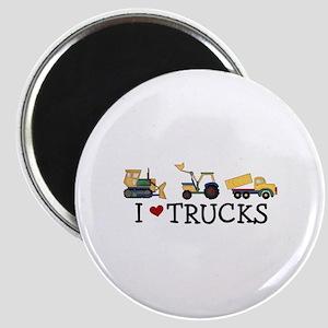 I Love Trucks Magnet