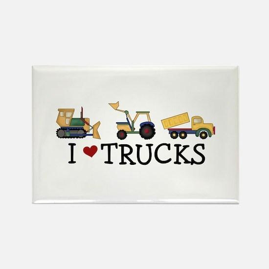 I Love Trucks Rectangle Magnet