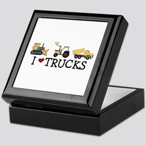 I Love Trucks Keepsake Box