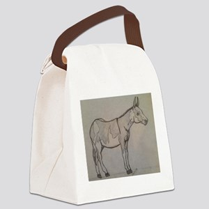 paint donkey Canvas Lunch Bag