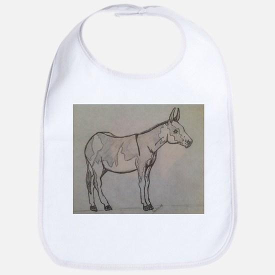 paint donkey Bib