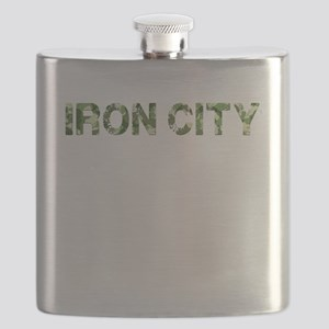 Iron City, Vintage Camo, Flask