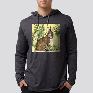 Bunny in the Berry Patch-tile.jp Mens Hooded Shirt