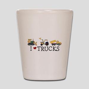I Love Trucks Shot Glass