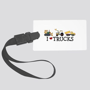 I Love Trucks Large Luggage Tag