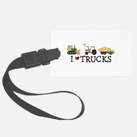 I Love Trucks Luggage Tag