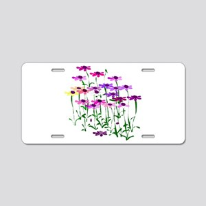 Wildflowers Aluminum License Plate