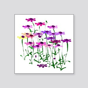 "Wildflowers Square Sticker 3"" x 3"""