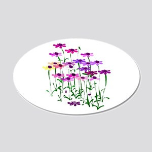 Wildflowers 20x12 Oval Wall Decal