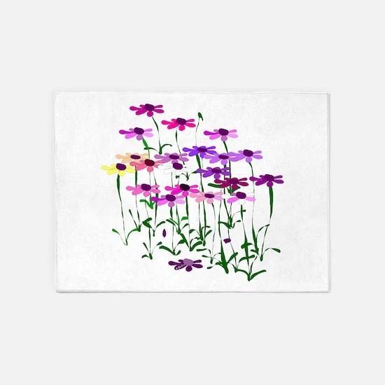 Wildflowers 5'x7'Area Rug