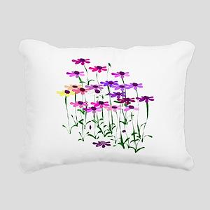 Wildflowers Rectangular Canvas Pillow