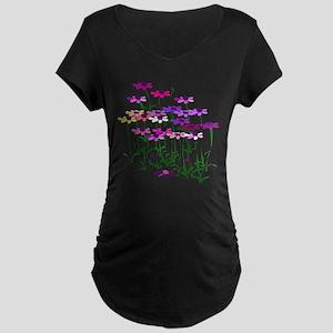 Wildflowers Maternity Dark T-Shirt