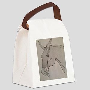Pencil mule head Canvas Lunch Bag